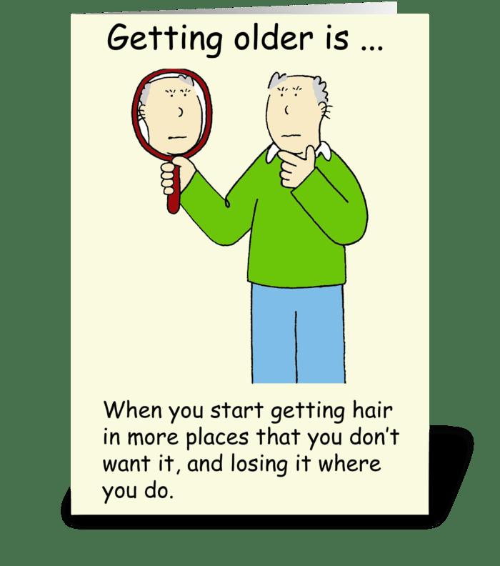 Getting Older Male Birthday Humor greeting card