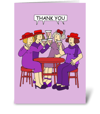 Thank You Ladies in Red Hats greeting card