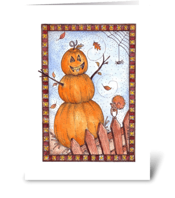 Friendly Fall Jack-O-Lantern greeting card