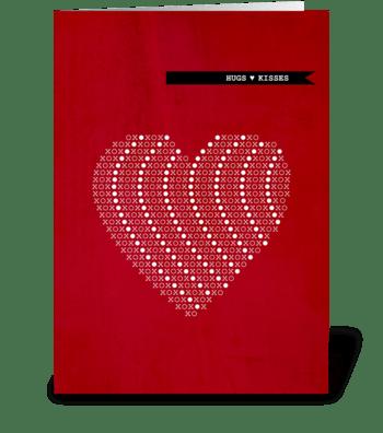 xoxo Hugs & Kisses greeting card