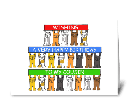 Cousin Happy Birthday greeting card