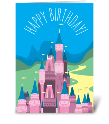 Princess Castle greeting card