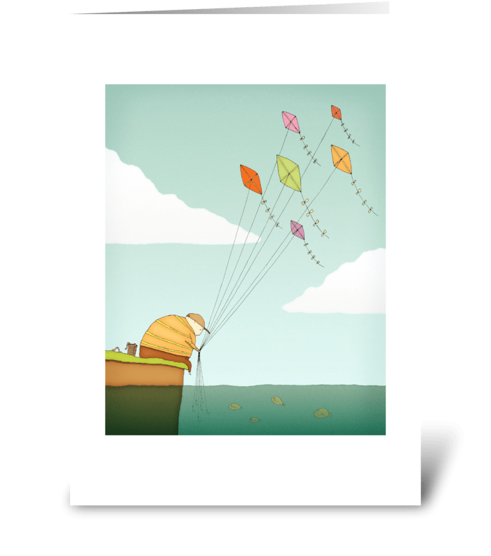 Fly Fishing Greeting Card greeting card