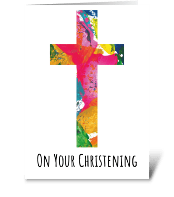 114 Christening greeting card