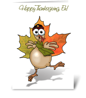 Canadian Thanksgiving Turkey greeting card