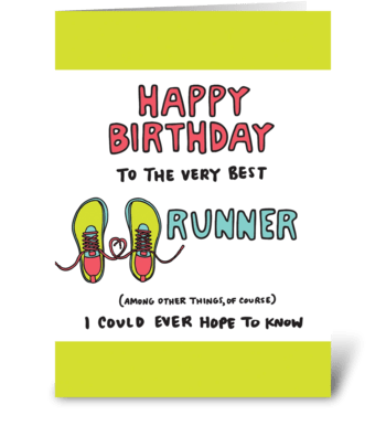 Happy Birthday Runner greeting card