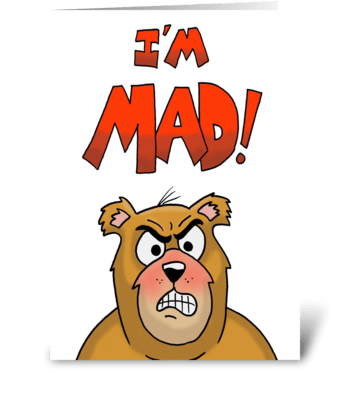 I'm Mad About You greeting card