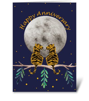 Anniversary Tigers greeting card
