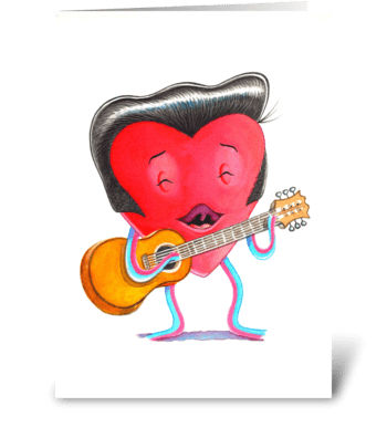 Male Heart greeting card