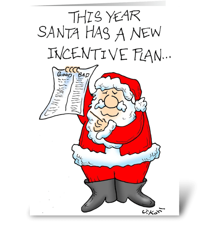 New Incentive Plan greeting card