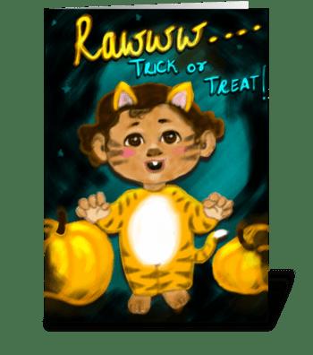 Raaawwww.. Tiger greeting card