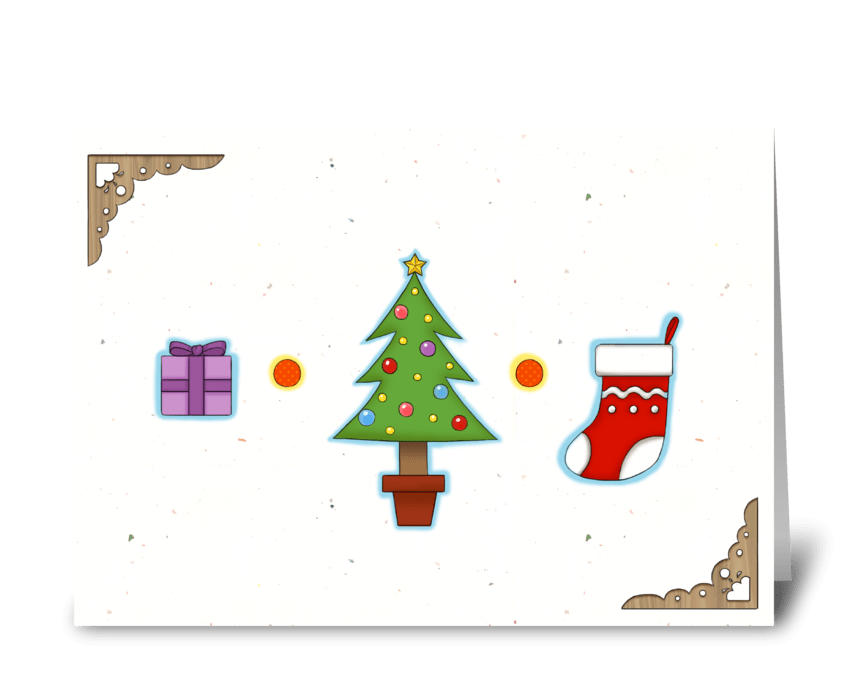 Merry Little Chirstmas greeting card