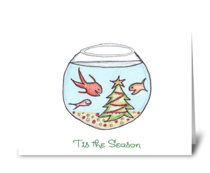 A Fishy Christmas greeting card