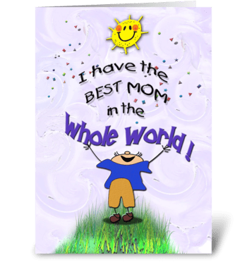 Best Mom, from Son, Mother's Day greeting card