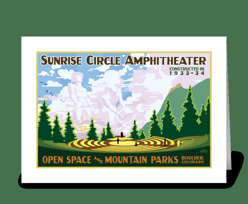 Sunrise Circle Amphitheater greeting card