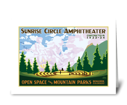 Sunrise Circle Amphitheater greeting card