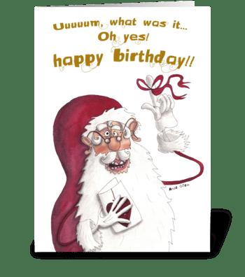 Confused Santa greeting card