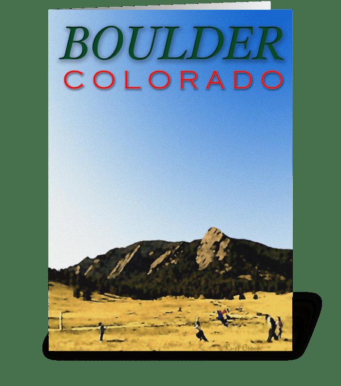 Boulder Travel Poster greeting card