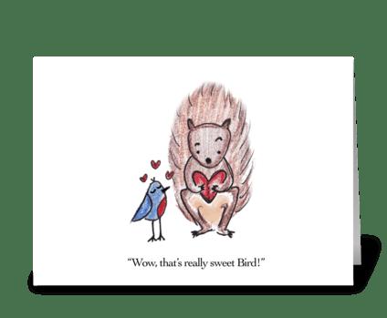 Bird's Valentine greeting card
