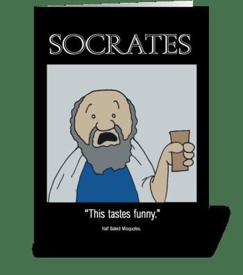 Socrates greeting card