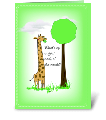 Giraffe, Hello greeting card
