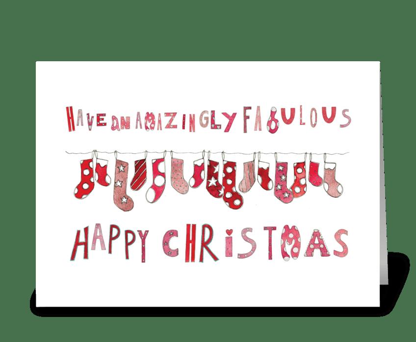Amazingly Fabulous Happy Christmas greeting card
