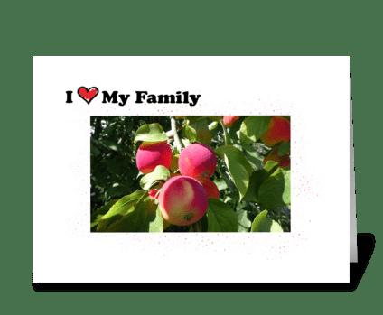 I love my family greeting card