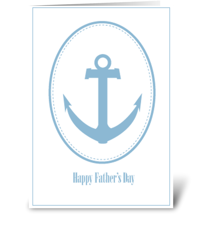 Fathers Day Anchor greeting card