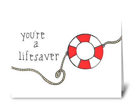 Lifesaver greeting card