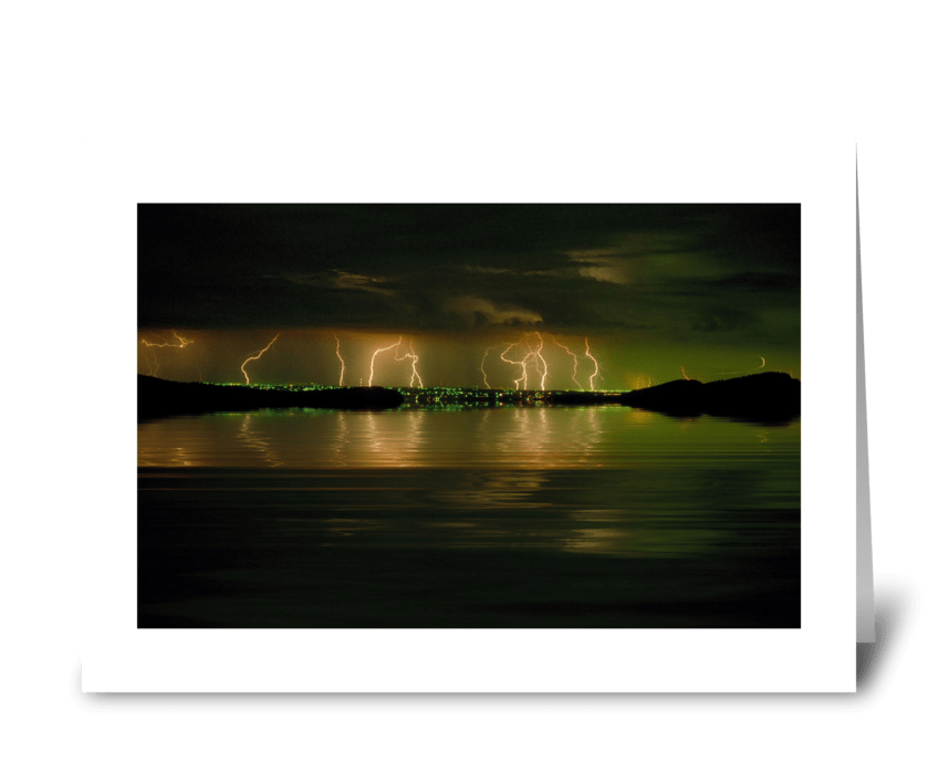 Electric Reflections greeting card