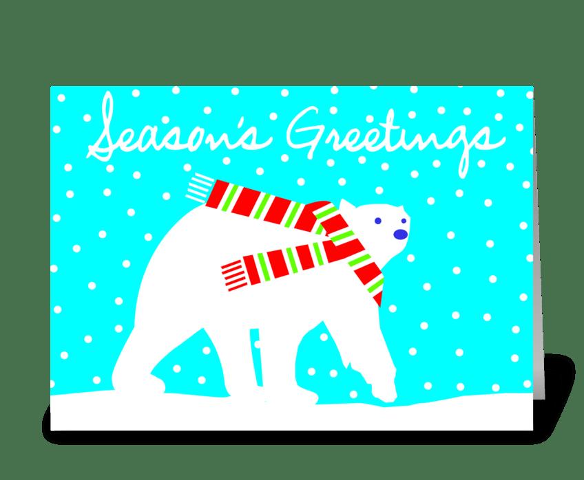 Friend of Santa (polar bear) greeting card