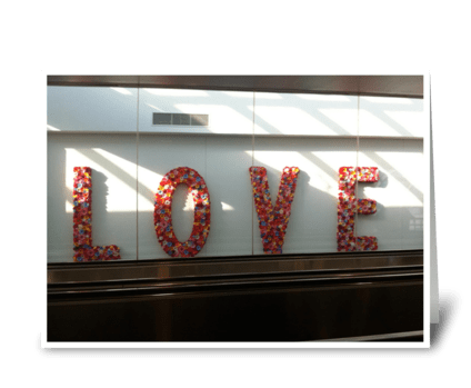 LOVE In Motion - photograph greeting card
