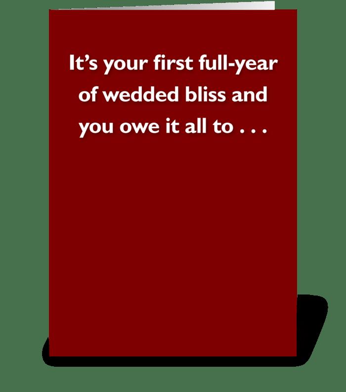 Wedded Bliss greeting card