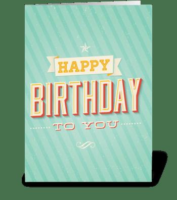 Retro Birthday greeting card