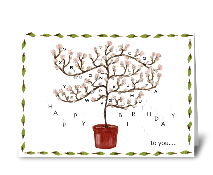 birthday blossoms greeting card