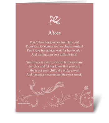Poetry Niece greeting card