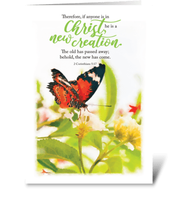 New Creation greeting card