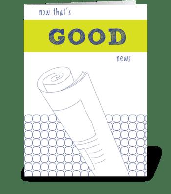 Good News greeting card