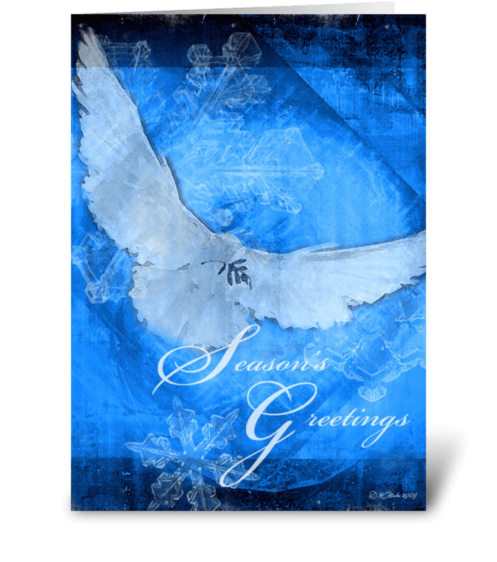 Christmas Dove Christmas Card greeting card