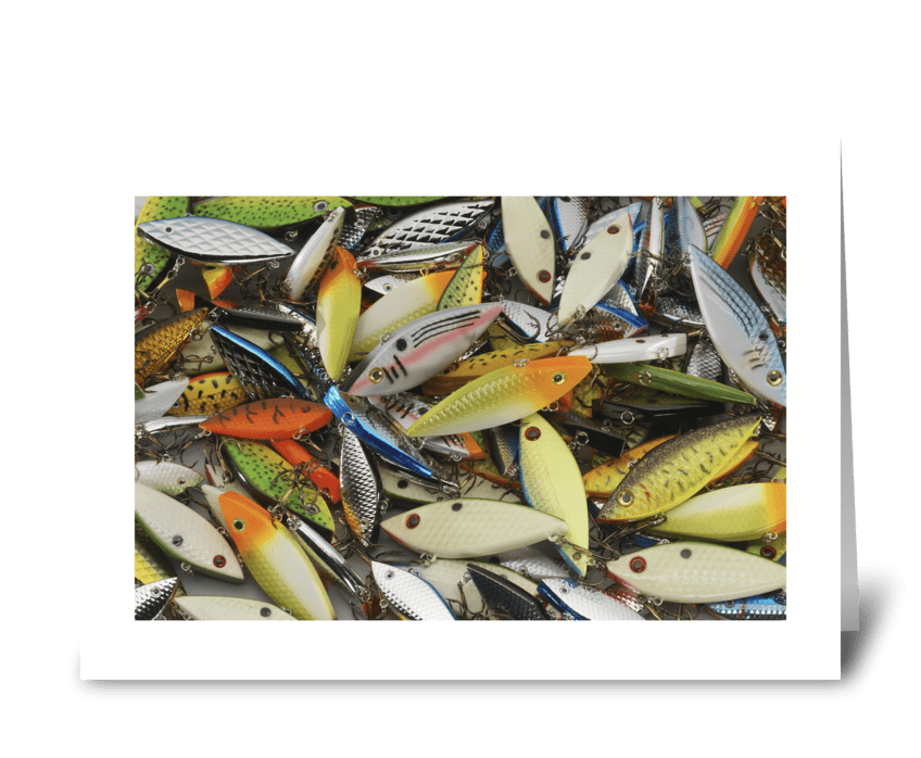 The Lure of Fishing greeting card