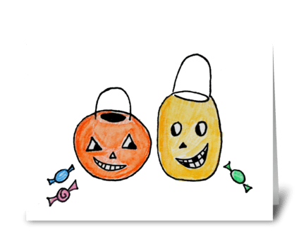 Jack-o-Lanterns greeting card