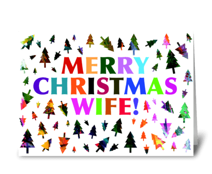 Wife Christmas Card greeting card