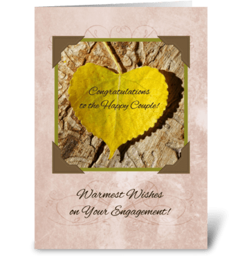 Autumn Engagement Congratulations greeting card