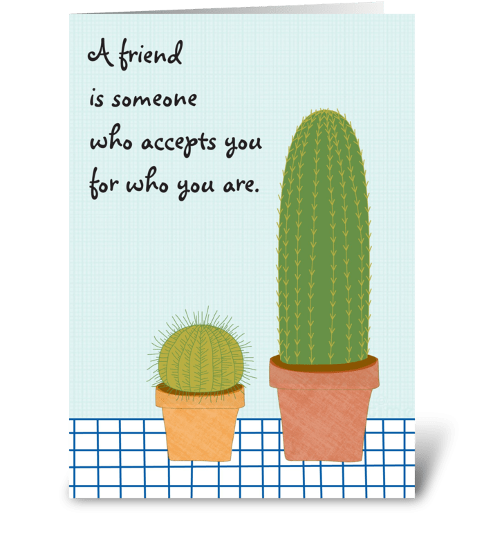 Cactus Friends greeting card