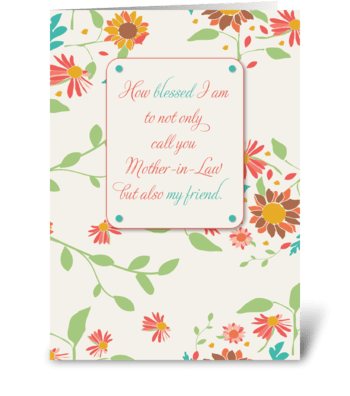 Mother-in-Law Mother's Day, Religious greeting card