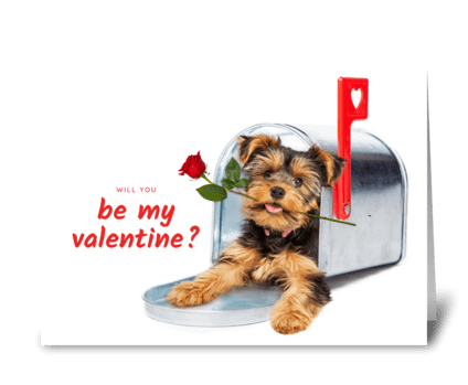 Be My Valentine Puppy Love greeting card