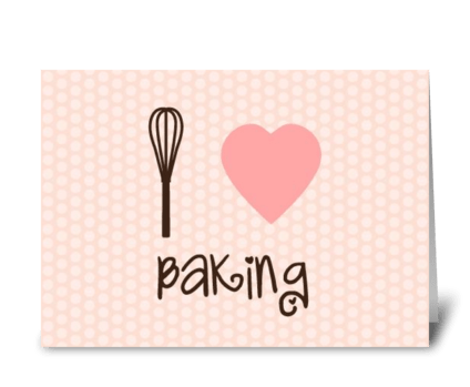 I heart baking greeting card