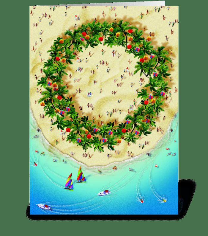 Tropical Wreath greeting card