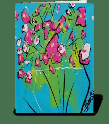 Sweetpeas greeting card