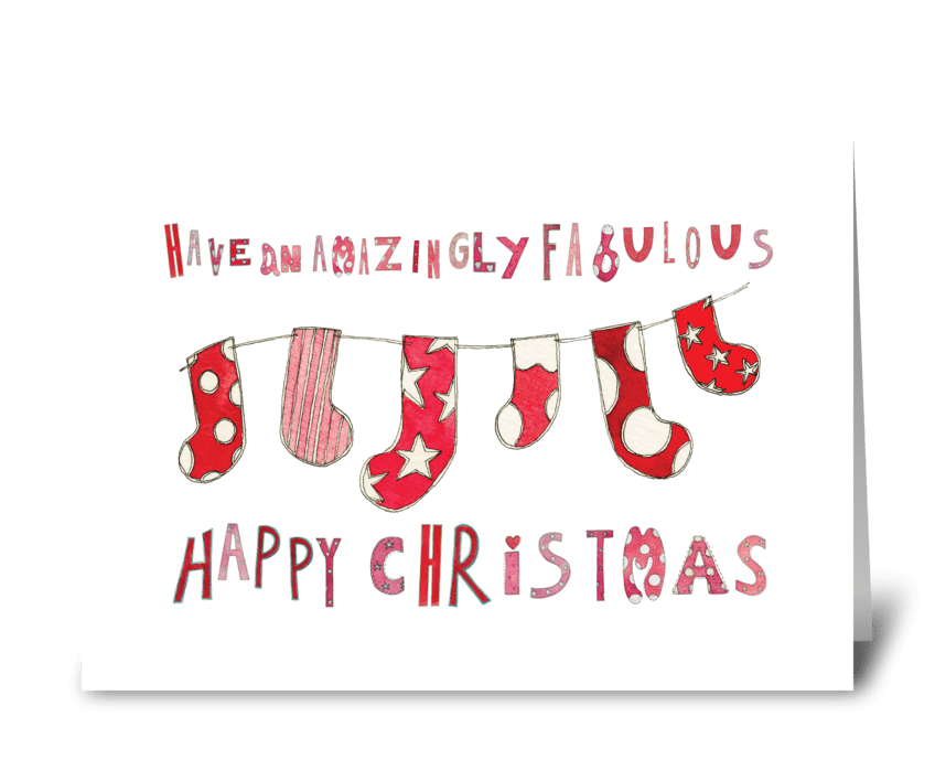 Amazingly Fabulous Happy Christm greeting card